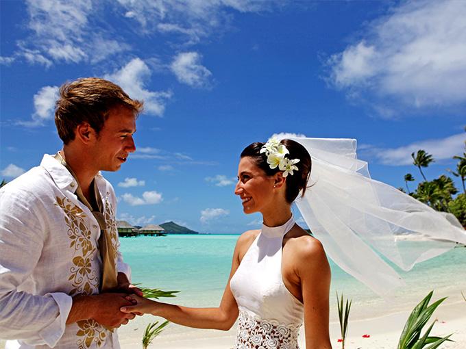 Свадьба на островах Бора-Бора
