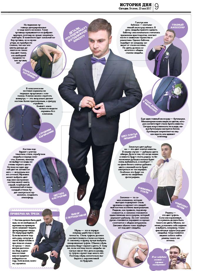 Статья ''Визитка' жениха' - Газета сегодня 23.05.17 - Благотворительный проект 'Свадьба мечты'