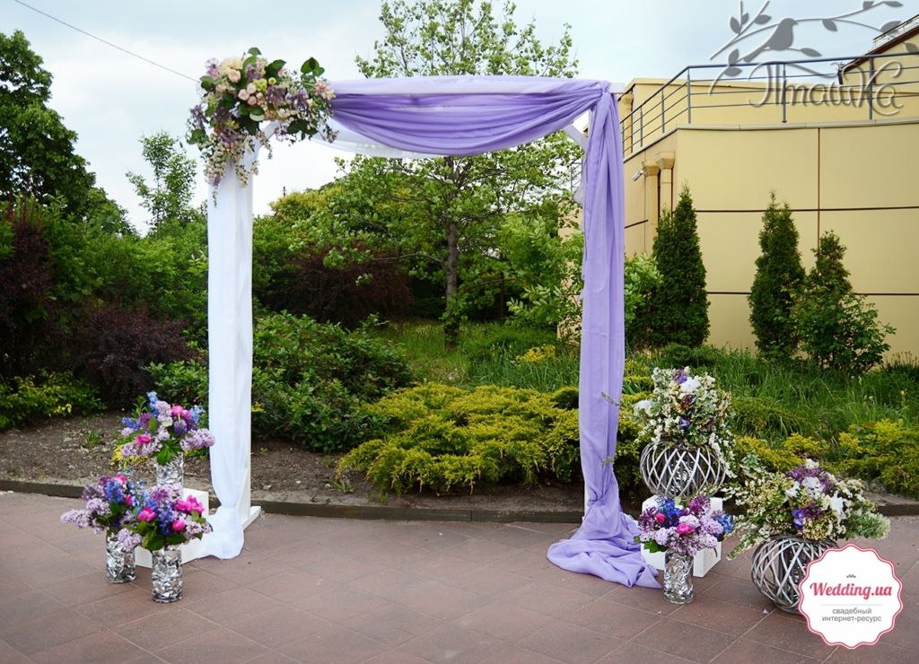 Оформление 'Свадьбы Мечты' от мастерской декора 'Пташка'