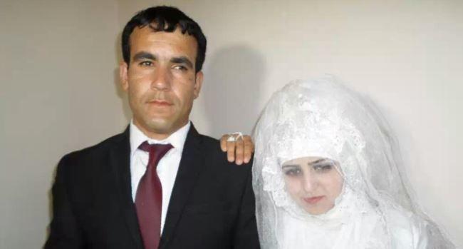 Раджабби Хуршед с мужем в день свадьбы