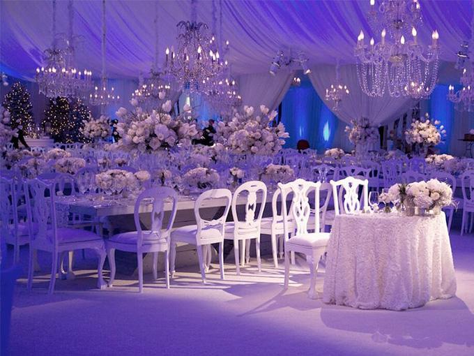 Оформление зала в стиле 'Зимняя сказка'
