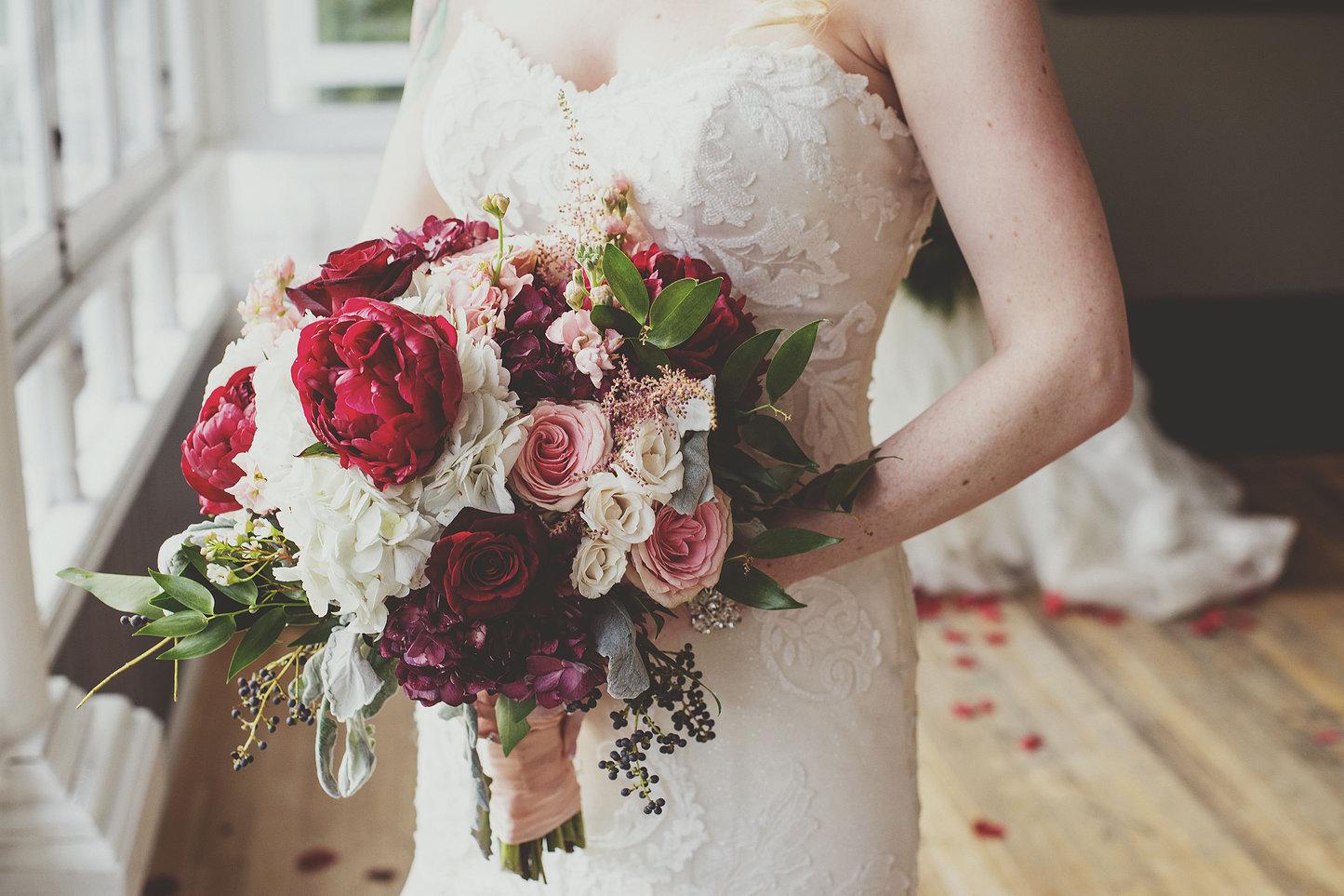 Букет невесты после свадьбы