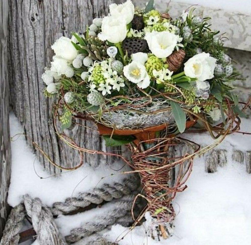Букет для зимней свадьбы