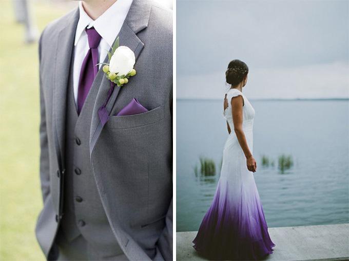 Ультрафиолетовые наряды молодожен