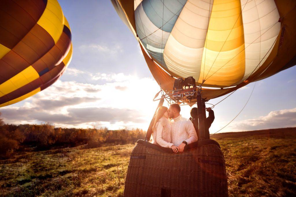 Признание в любви на воздушном шаре