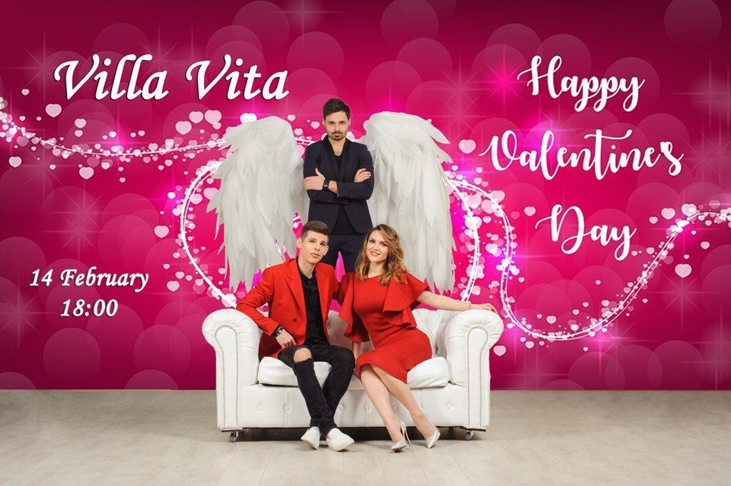 День всех Влюбленных c в самом романтичном ресторане 'Вилла-Вита'
