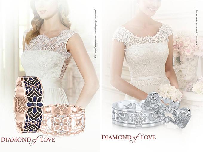 Обручальные кольца - соединение двух сердец воедино