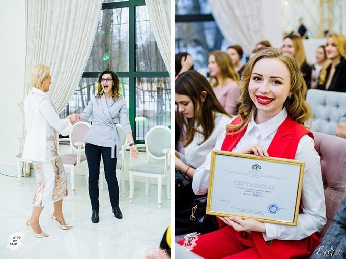Ирина Яроцкая презентует свой шедевр, потрясающий шоу-торт, участникам #Step_by_step_Kiev