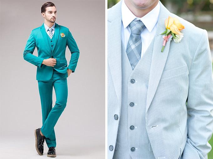 Свадебные костюмы необычного цвета
