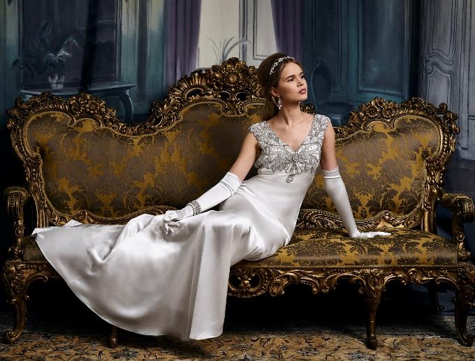 Образ невесты от Eliza Jane Howell - длинные шелковые перчатки