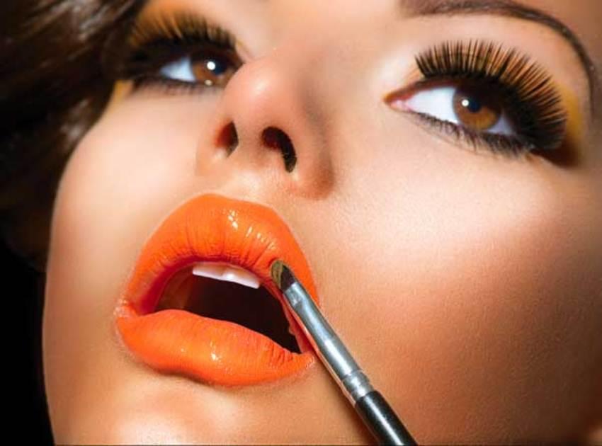 Мандариновый макияж