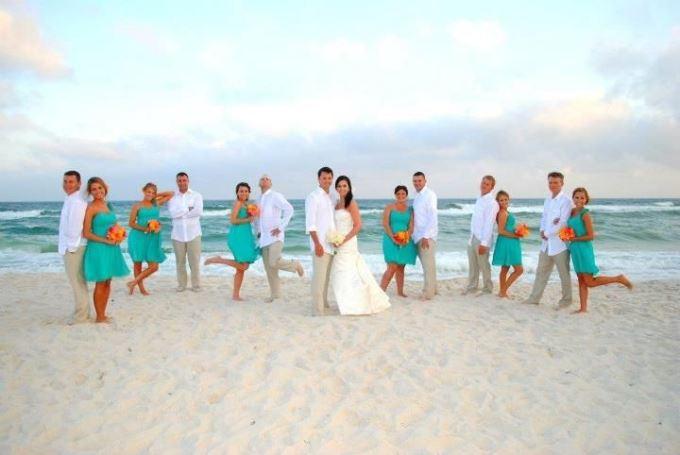 Свадебная вечеринка на пляже