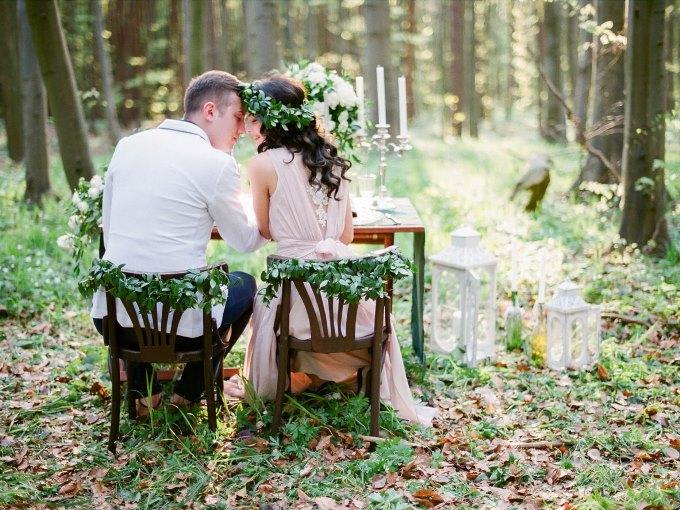 фотозона для свадьбы в стиле рустик