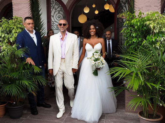 Свадьба Венсана Касселя и Тины Кунаки