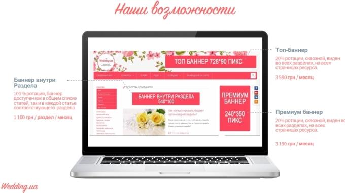 реклама Wedding.ua