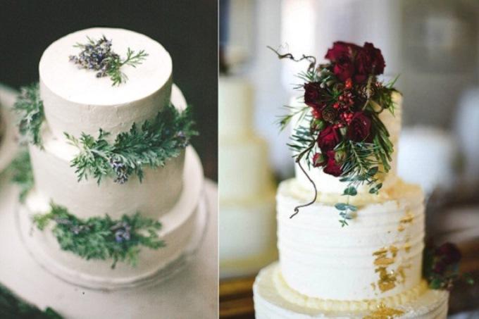 Свадебный торт на зимнюю свадьбу