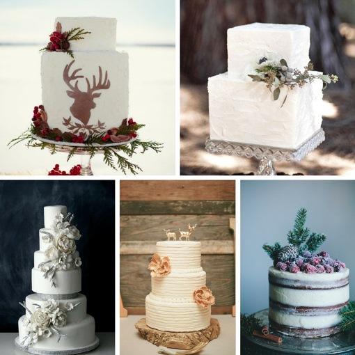 торт на зимнюю свадьбу 2019