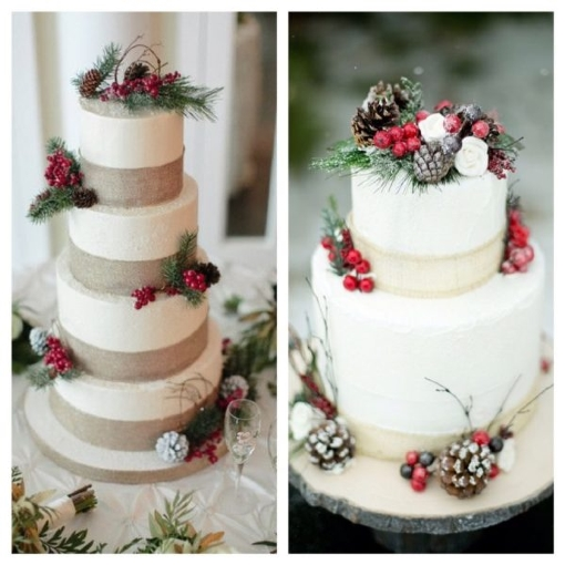Идеи для декора торта на зимнюю свадьбу
