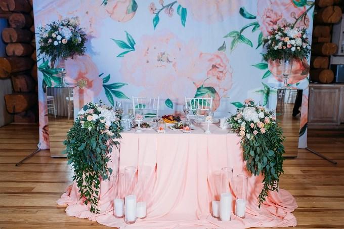 Основные правила по оформлению свадебного президиума