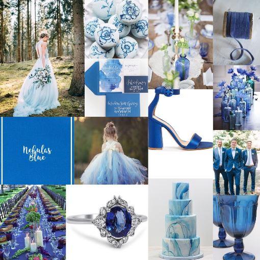Свадьба в цвете синяя туманность