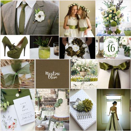 Свадьба в цвете оливка в мартини