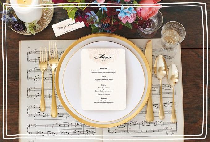Зимнее свадебное меню