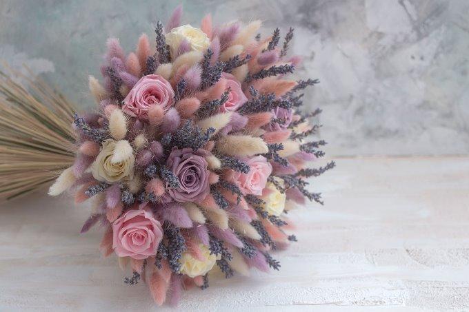 Букет невесты с сухоцветами