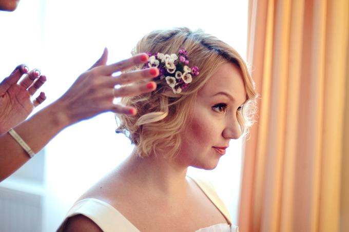 Украшение в волосы с сухоцветами