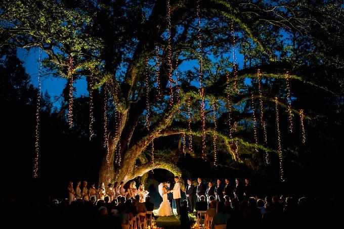 Ночная свадьба в лесу