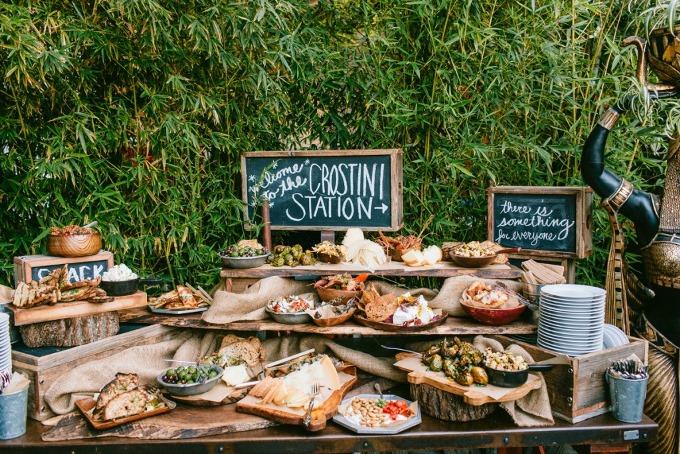 food-бар на свадьбе