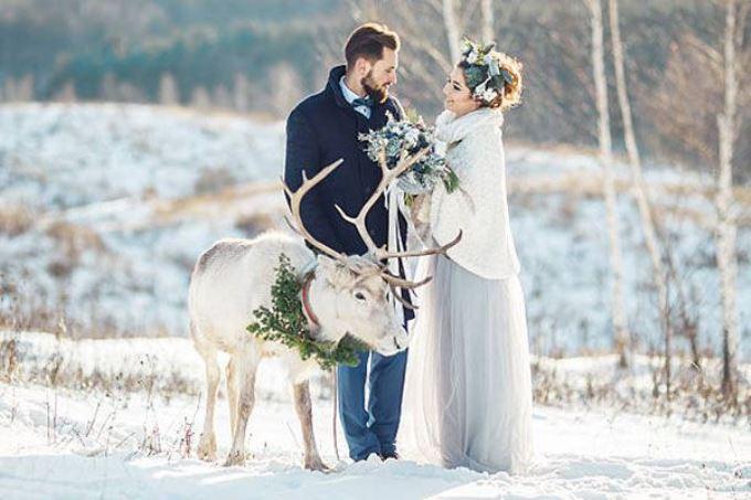 Зимняя свадьба: 5 лайфхаков для того, чтобы зимняя фотосессия удалась