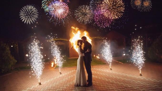Красивый финал свадьбы