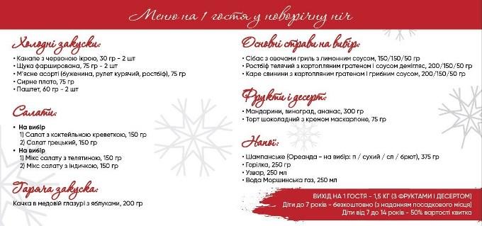 Волшебная новогодняя ночь в ресторане Тарас!