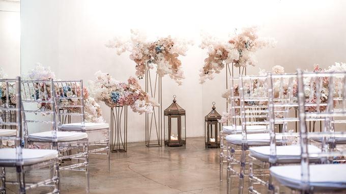 Зимняя свадебная церемония