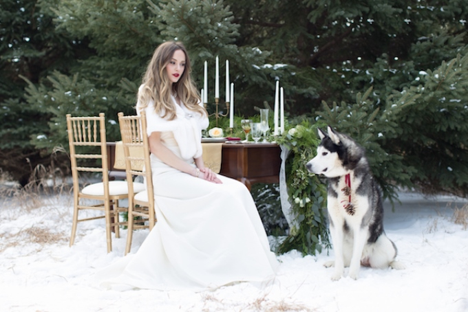 Атрибути зимового образу нареченої