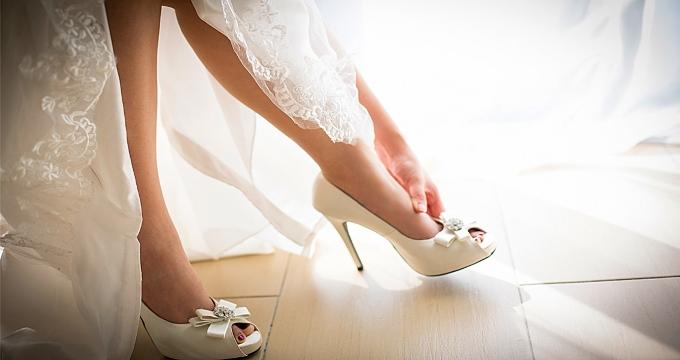 Как подобрать оптимальную высоту каблука к свадебному платью?