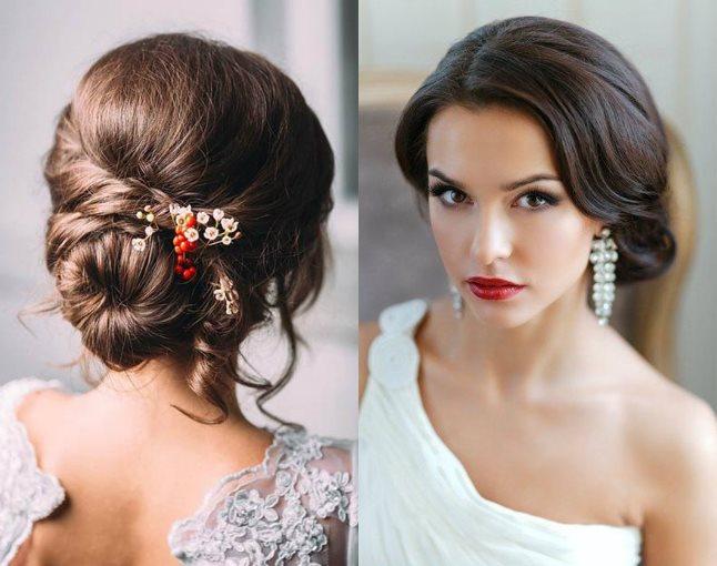 Прическа невесты - брюнетки