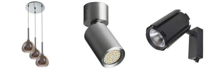 Люстра подвес, подсветка и трековый светильник Brille