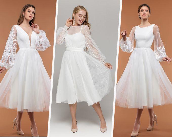 Вечернее платье для невесты на свадьбу